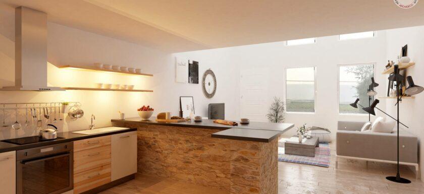 la cuisine am ricaine nouvel picentre de la maison mysweetimmo. Black Bedroom Furniture Sets. Home Design Ideas